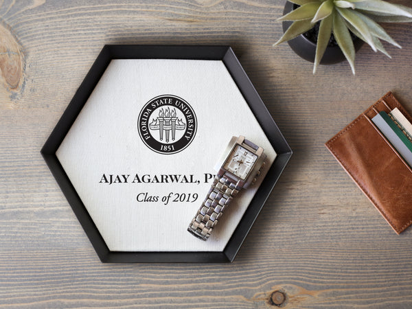 Personalized Tray with Graduation Seal