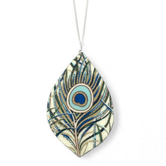 one year anniversary gifts for her - peacock necklace