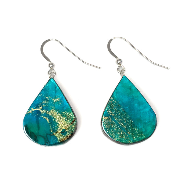 paper anniversary gift for her - neptune paper earrings