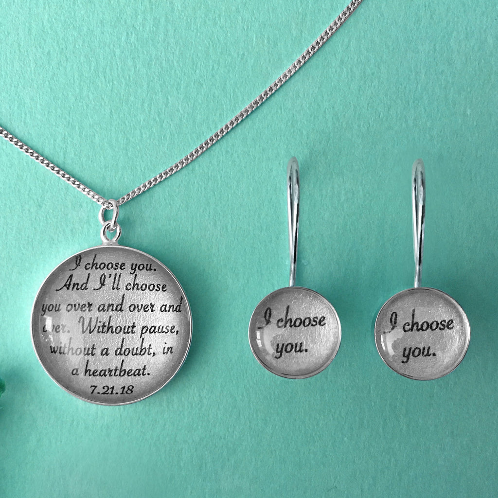 Jewelry Set with Vows or Song