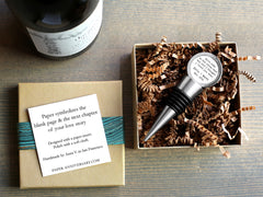 paper wine bottle stopper in box
