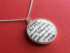 personalized cotton anniversary necklace
