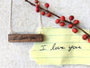 personalized handwriting I love you necklace
