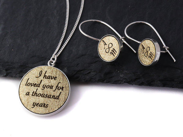 personalized leather anniversary gift for her