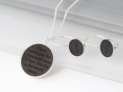 personalized leather anniversary jewelry
