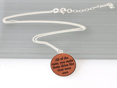 personalized leather necklace