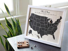 personalized map cotton anniversary