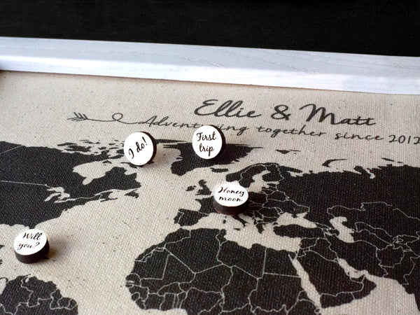 personalized world map pins