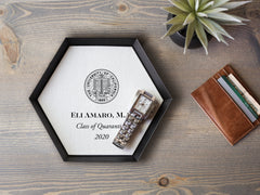 Personalized Graduation Tray with Inspiring Quote