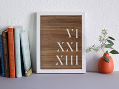 roman numerals personalized wall art
