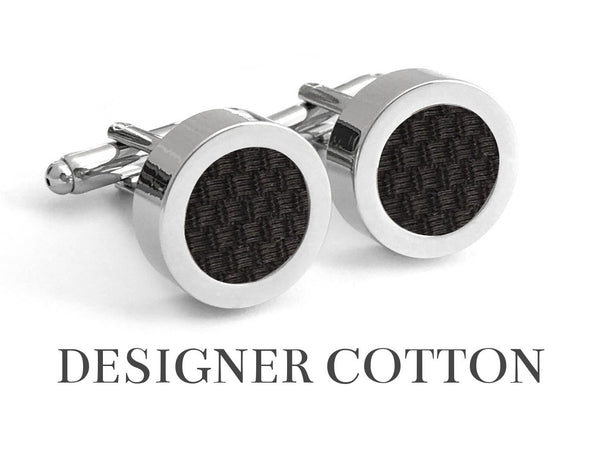 Cotton - Midnight Noir Cotton Cufflinks