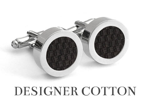 Midnight Noir Cotton Cufflinks