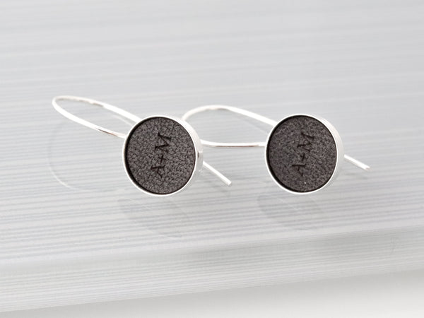 secret message leather earrings