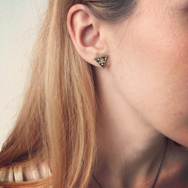 Petit Triangle Earrings