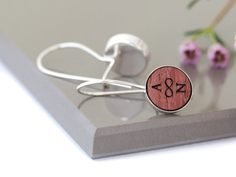 Purple Heart Wood Earrings