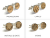 Whiskey Wood Cufflinks- Vows or Song