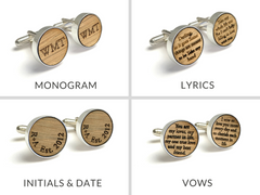 Reclaimed Whiskey Barrel Cufflinks & Tie Clip