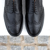 Black Grain 5 Eye Gibson Brogue Shoe