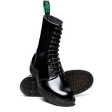 Black Hi-Shine 11 Eye Astronaut Boot
