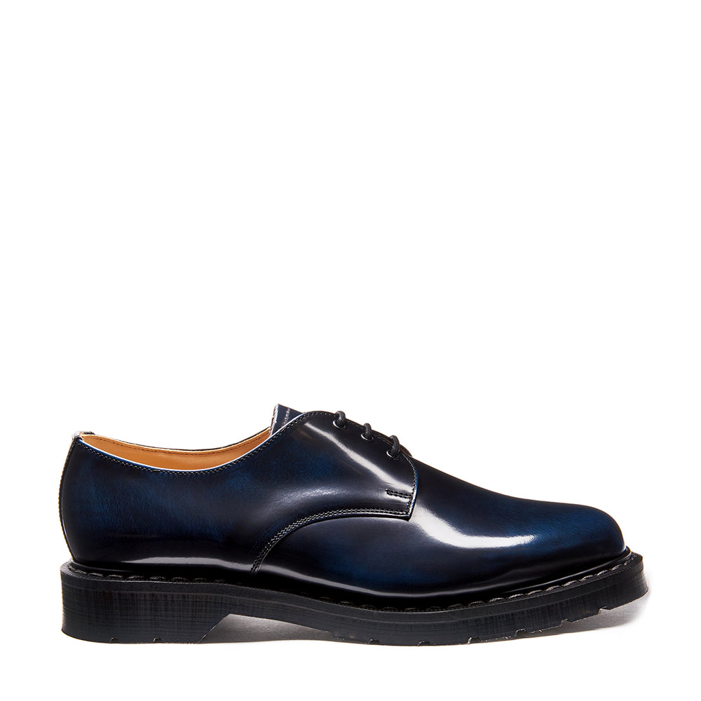 Navy Blue Rub-Off 3 Eye Gibson Shoe