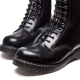 Black Hi-Shine 8 Eye Derby Boot