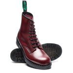 Oxblood Hi-Shine 8 Eye Derby Boot