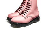 Blush Pink Hi-Shine 8 Eye Derby Boot