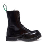"""Englander"" Black 11 Eye Steel Toe Derby Boot"