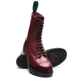 Cherry Red 11 Eye Steel Toe Derby Boot