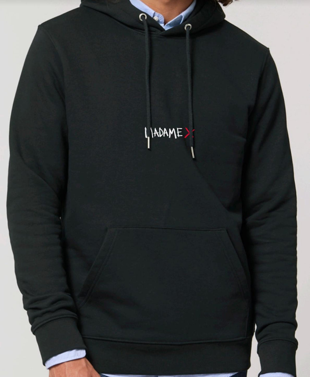 HOODIE | MADAME X | NOIR | EMBROIDERED