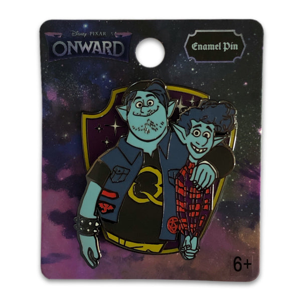 Ian and Barley Onward Crest Pin