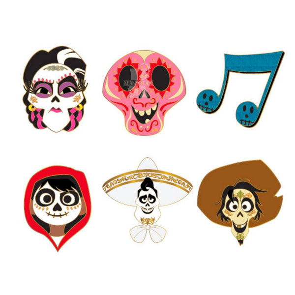 Coco Heads Blind Box Enamel Pins
