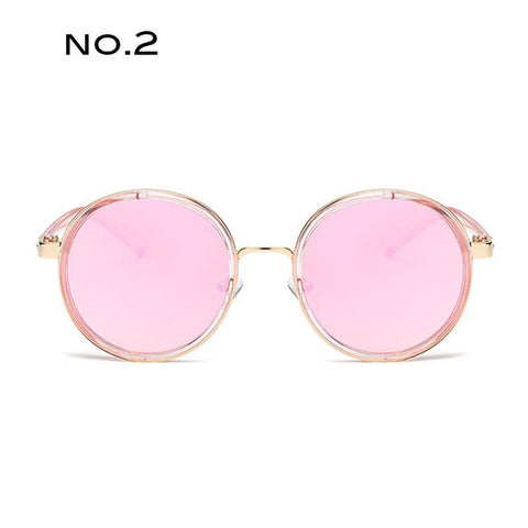 Luxury Decoration Frame Round Steampunk Fashion Classic Sunglasses
