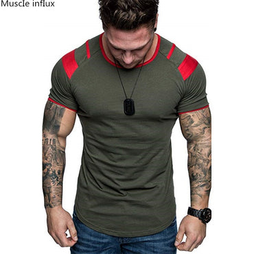 Cotton Breathable Short Sleeve Fitness t shirt