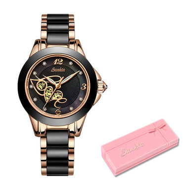 Diamond Surface Ceramic Strap Watch