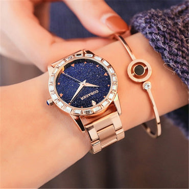 Luxury Stainless Steel Gold Wrist Watches