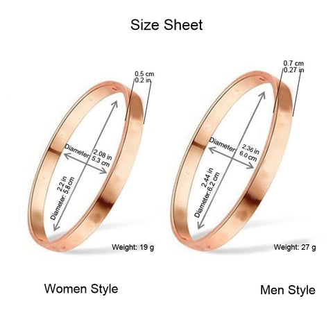 Luxury Stainless Steel Cuff Bracelets & Bangles