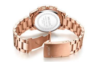 Chronograph Luxury Rose Gold Wrist watch