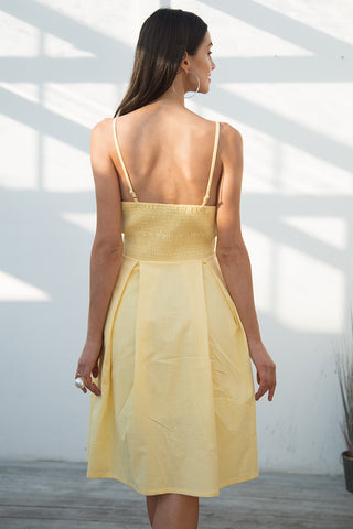 Hollow out bow Causal backless Midi Dresses