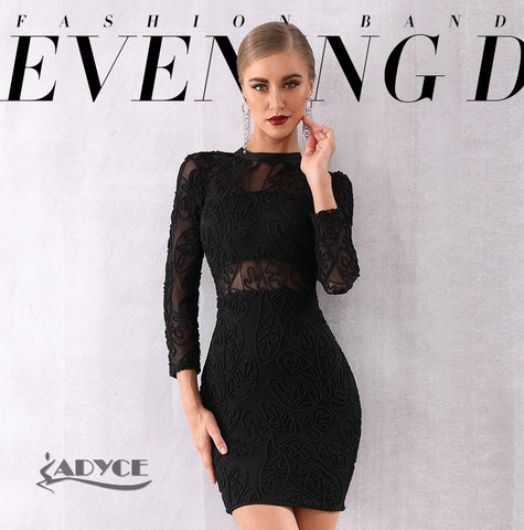 Black Long Sleeve Lace Sexy Dresses