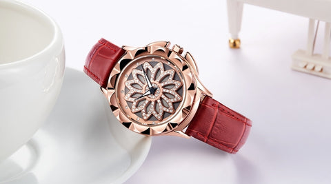 Luxury Rhinestones Rose Gold Watch