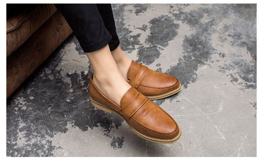 Retro Shallow Leather Casual Oxford Shoes