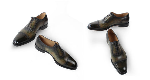 Dyeing Leather Italy Designer Oxford Shoes