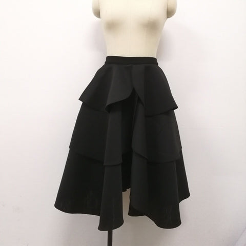High Waist Layers Ruffles A Line Ball Gown Skirts