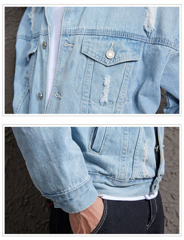 tide easing young handsome denim jacket