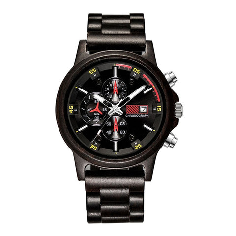 Bamboo Brand Chronograph Wood Sport Watch