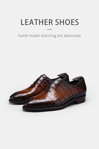 leather casual Oxford Shoes