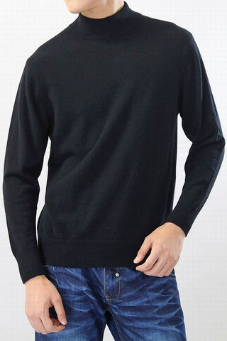 Cashmere Black Gray Navy Turtleneck Natural Fabric Sweater