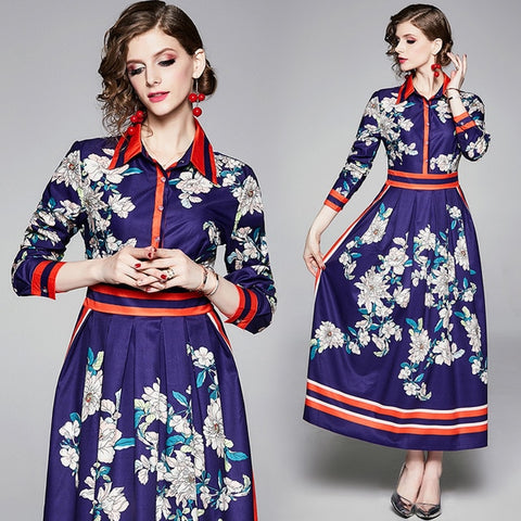 High Quality Casual Shirt Vintage Dress