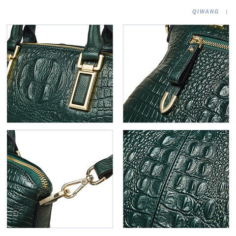 Authentic Crocodile Genuine Leather Handbag